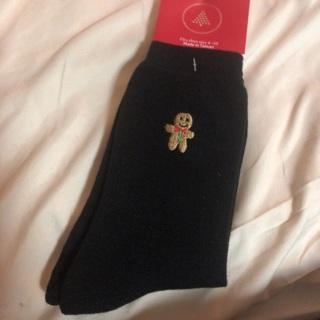 Gingerbread Unisex Holiday Socks. Size 9-11