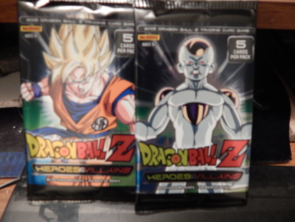 "New factory sealed~Random pick of ONE (1) ""DRAGONBALL Z-Heroes & Villains"" 2015 series trading cards"