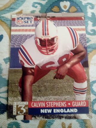 NFL pro set #785 Calvin Stephens