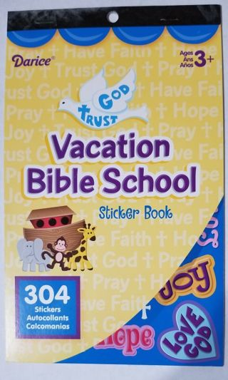 Vacation Bible School Stickers Book