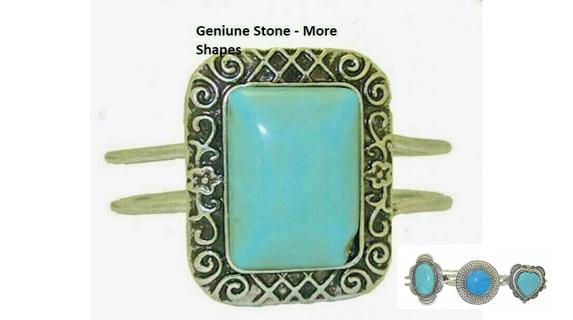 Bangle turquoise stone bracelet choice NWT