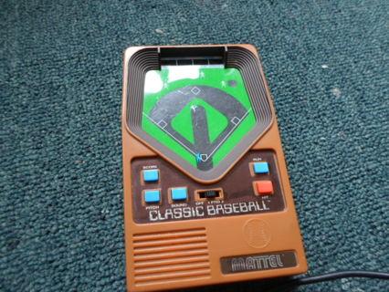 Vintage Mattel Electronic Baseball Game