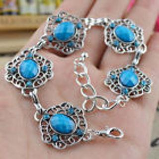 Aqua Gemstone Bracelet