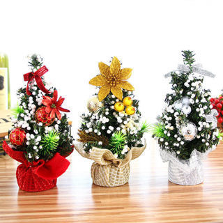 [GIN FOR FREE SHIPPING] Festival New Christmas Table Small Decor Tree Desk