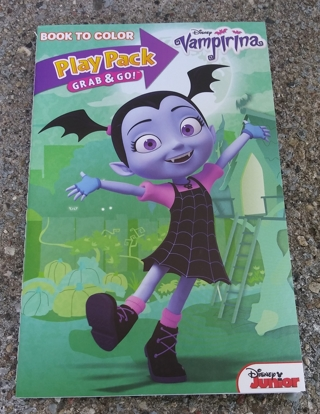 VAMPIRINA SMALL COLORING BOOK WITH STICKERS USE YOUR OWN CRAYONS
