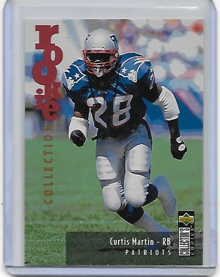 Curtis Martin 1995 Collector's Choice Update #U38 Rookie Card