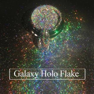 Top-Grade Galaxy Holo Flakes 0.2g/box Laser Bling Rainbow Flecks Chrome Magic Effect Irregular Nai