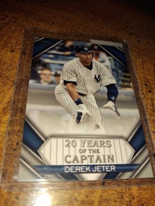 Derek Jeter New York Yankees veterans shortstop insert