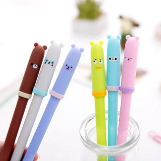 1pcs Fashion Cute Little Fresh Animal Expressions Neutral Pen School and Office Supplies Children
