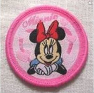 NEW MINNIE MOUSE Pink SEW ON PATCH Cartoon Mouse Girl FREE SHIPPING
