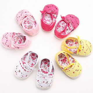 Baby Infant Shoe Kids Girl Summer Soft Sole Crib Crochet Toddler Newborn Shoes