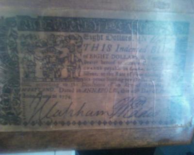 8 dollar bill