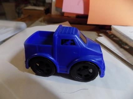 Plastic blue pick up truck push toy