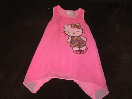 EUC Hello kitty dress size 6x free shipping with GIN