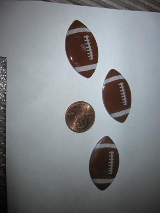 3 football magnets