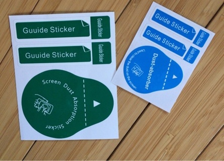 6 Screen Guide Stickers & Dust Absorbents