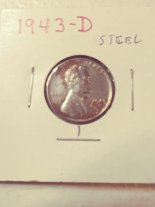 1943-D Steel Lincoln Wheat Penny! 103