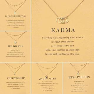 2017 new Golden wish necklace with card anchor Pendant Short Chain Choker Necklace For Women Jewel