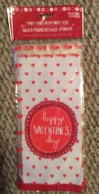 ❤️ (New) 25 Ct. Valentine's Day Goody Treat Bags ❤️