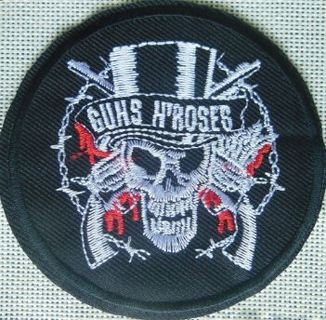 1 New GUNS N ROSES Band Patch IRON ON Patch Music Band Fan Clothing Embroidery Applique Decoration