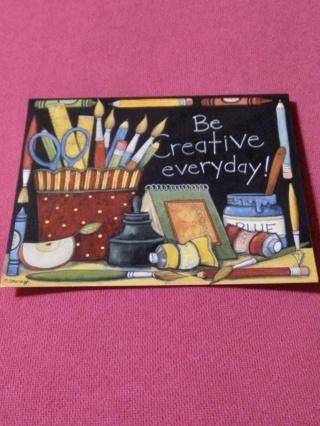 Notecard - BE CREATIVE!