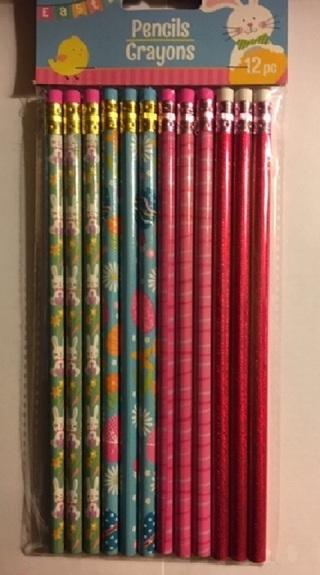 ☛ (New) 12 Count Pkg. Easter Pencils ☚