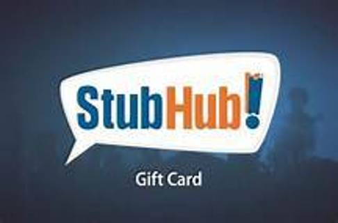 FLASH SALE!!  $50 STUBHUB E-GIFT CARD