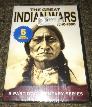 ☆The Great Indian Wars 1540-1890 Documentary Series DVD New!