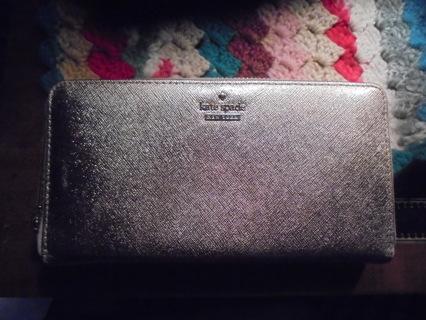 Metallic Gold Kate Spade Wallet