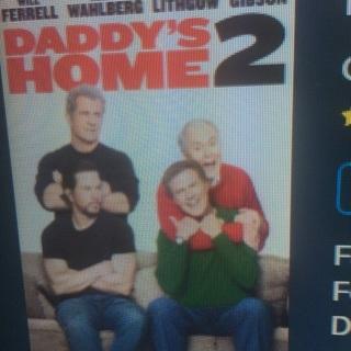 Daddy's Home 2 UV HD Vudu digital movie code only USA redeem