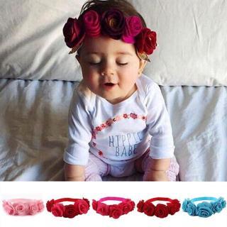 Newborn Kids Girls Baby Toddler Chiffon Flower Hair Band Headband Headwear photo