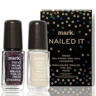 Avon mark. Nailed it Mini Polishes-2 Holiday Shades-Trend Gel Finish Nail Laquers-NIB