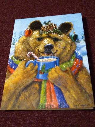 Christmas Card - Toasty Bear