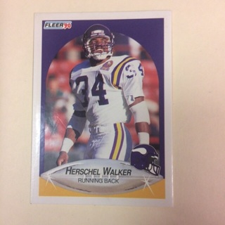 1990 Fleer HOF #107 RB Herschel Walker - Vikings
