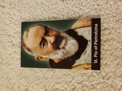 St. Padre Pio prayer card