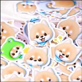 Big Eyed Puppy Dog High End Kawaii Sticker Flakes Set of 10 NEW