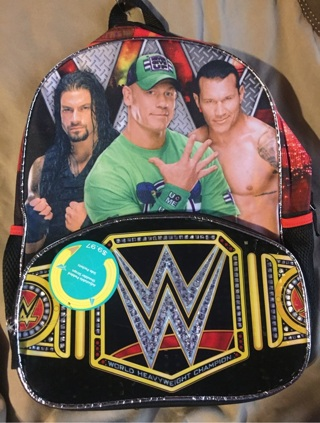 "WWE book bag ""new with tags"""