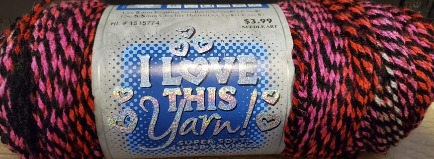 """NEW - I Love This Yarn! - """"Strawberry Jam"""""""