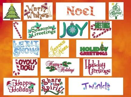 Free Christmas Sayings Machine Embroidery Designs 4x4 Needlecraft