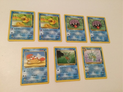 Water Pokemon 7 Card Lot Excellent to Near Mint Condition