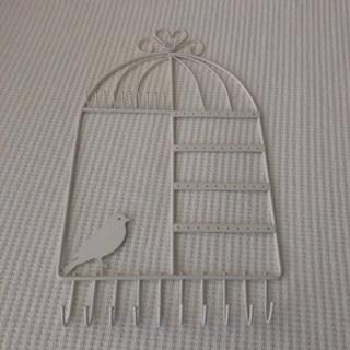 Bird Jewelry Hanger • Wall Mount • White • Necklace Earrings Bracelets • Free Shipping