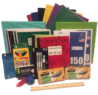 Secondary School Supply Pack - 25 Essential Items for College, High School or Middle School.