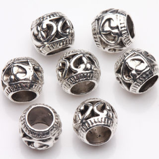 20Pcs Tibetan Silver Hand Carving Spacer Beads Jewelry Finding Craft 8mm