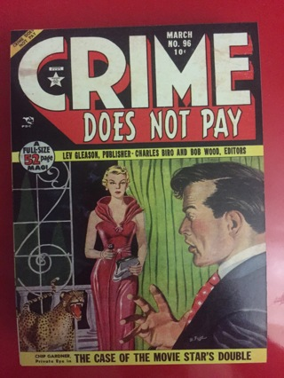 CRIME DOES NOT PAY MARCH NO 96 COMIC POSTCARD