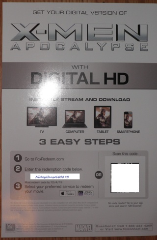 "(UV) X-Men ""Apocalypse"" HD"