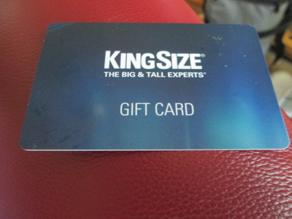 A $50.00 GIFT CARD FROM KING SIZE FOR MEN, THE BIG AND TALL EXPERTS!!! SENT FREE!!!