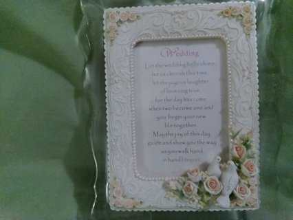 Music box wedding frame saying