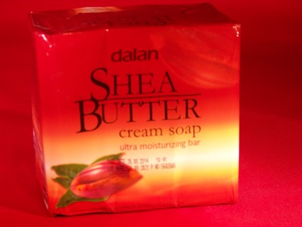 1 LARGE SIZE BAR OF LUXURIOUS SKIN CONDITIONING SHEA BUTTER CREAM BATH SOAP/ GIN GETS A 3 PACK