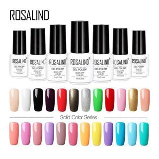 ROSALIND Gel 1 Pure Color Series Gel Nail Polish Set For Manicure Polishing For Gel Varnish Primer