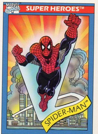 1990 Marvel Comic Trade Card: Spider-Man